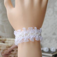 Diy pure hand for all-match white chiffon bracelet wristband elegant wristiest Women
