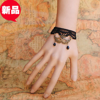 Diy accessories bracelet vintage pearl wristband crystal lace accessories Women princess goths