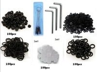 FREE SHIPPING lot of 10 set tattoo Adjust Tool Repair Allen Key Rubber Grommets kit supply