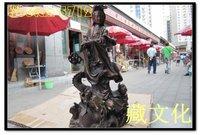 collectibles Chinese bronze guanyin guan yin buddha statue with dragon free S/H