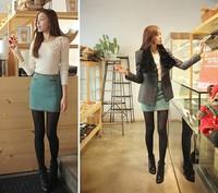 Free Shipping Autumn and winter autumn color block woolen bag bust skirt all-match fashion a short skirt