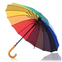 16 straight rainbow umbrella sun-shading sun weather umbrella