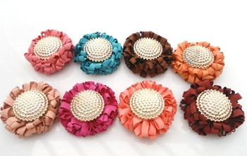 Free shipping! The very popular Kawaii cloth handmade sunflower, DIY decorative accessories, 8color 24batch!