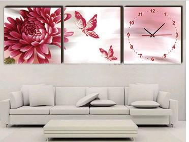 Achetez en gros horloge de mur de toile en ligne des - Horloge murale sans bruit ...