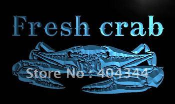 LN102- Fresh Crab Restaurant Neon Light Sign   hang sign home decor shop crafts led sign