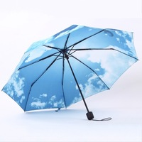 New Arrival -Blue Sky Umbrella With UV Protection, Gift For Nice Mood