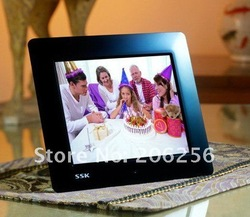 Christmas Gift SSK 10 inch LED ultra-thin digital photo frame in-built 4G Memory SD MMC MS card with Music mp4 CE/FCC/ROHS(China (Mainland))