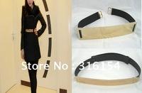 Fashion Bling Gold Metallic Metal Plate Mirror Obi Corset Belt Waist wide
