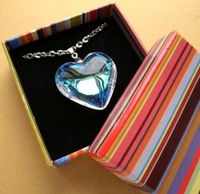 Pendant/Necklace Box Ring Case Jewelry box/case,Earring box 9.5*9.5*3cm wholesale 60pcs/lot by free shippping