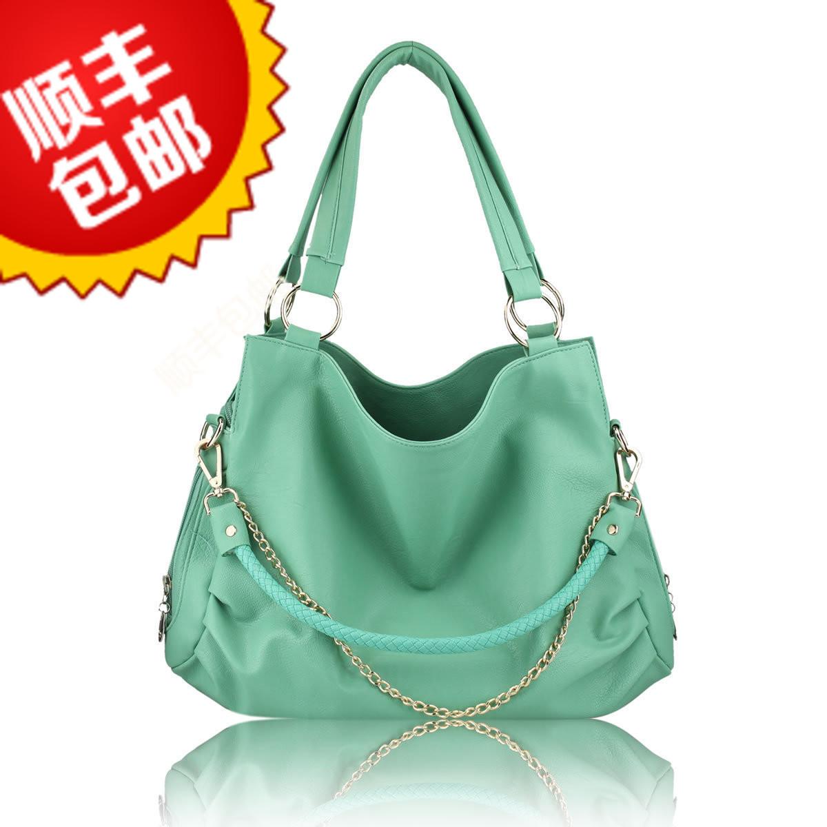 Ladies Green Shoulder Bag 20