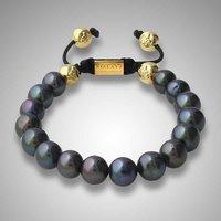 Newest freshwater pearls  shamballa hematite bracelet wholesale