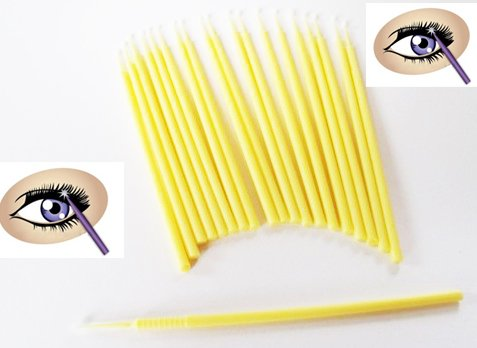 Micro brush Applicators for Eyelash Extension Removal Eyelash extension Cleaning Tools(China (Mainland))