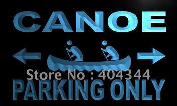 LN212- Canoe Parking Only Neon Light Sign   hang sign home decor shop crafts led sign