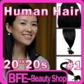 New Arrival 20inch Pre Bonded Remy 100% Human Hair Extensions 20&quot; Nail U Tip 20 Strands #1 Jet Black