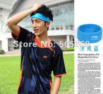 5 pecs Li Ning headband sports men women hair band hair bands stretch cotton absorb sweat sets AQAF019