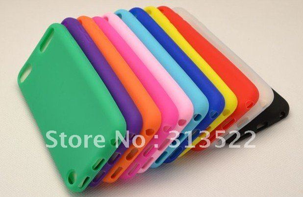 Wholesale 10 colors silicon case for ipod touch 5 , silicon case for touch 5 with pe sample package + Free shipping DHL/Fedex(China (Mainland))