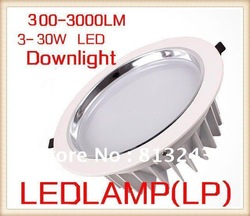 FEDEX/DHL Free shipping low price led down light 3W 5W 7W 9W 12W 15W 25W 30W led downlight, 10pcs/lot ceiling led(China (Mainland))