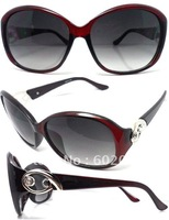 Women  Sunglasses Glasses,four color glass,metal decoration elegance eyeglasses /Free Shipping