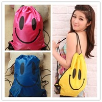 Free shipping face smile waterproof Swimming bag, lovly Beach bag Casual shoulder hand bag backpack,3colors, 12pcs per color