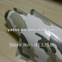 1.52M Width Camouflage Car Sticker With Air Free Bubbles