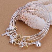 Promotion.Free Shipping 925 Sterling Silver Jewelry.Wholesale Beautiful Fashion Bracelet B079
