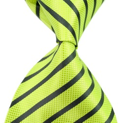 boyfriend gift 2012 New fashion Lime Stripe Silk Classic Woven Man Tie Necktie 901119-TIE0122 Free Shipping(China (Mainland))