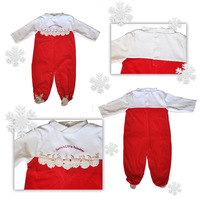 2012 autumn and winter new arrival baby girl's christmas elk decoration one piece romper 3M-9M free shipping