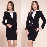 Workwear womens skirt work wear set formal  Skirt  suits  for lady  Free shipping