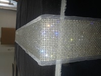 pearl&diamond table runner, wedding table runner, party home decoration, sparkling table runner LE-PTR-108