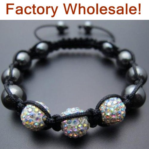 Crystal AB 10mm 3x Disco Ball Bead Shamballa Bracelet Wholesale.VWW5466 Free Shipping Shamballa Bracelets Jewelry For Women(China (Mainland))