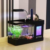 Usb desktop mini aquarium small fish tank multifunctional led mini calendar fish tank