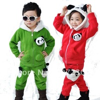2012 autumn male girls clothing fashion cartoon children sweatshirt twinset with a hood zipper outerwear