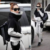 2012 winter casual sports set sweatshirt women's plus size autumn sweatshirt set female thickening