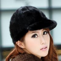 free shipping mink fur cap Women fur hat