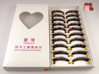 New 50 Pair/Lot Thick Long False Eyelashes Eyelash Extension Eye Lashes hand made Voluminous Makeup 056