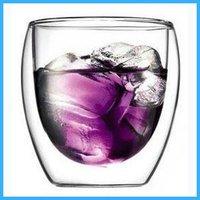 Aliexpress high quality 250ml Europe Style wholesale mugs Double Wall Glass Coffee Cup Tea glassware mug 10pcs/lot IDOU6817