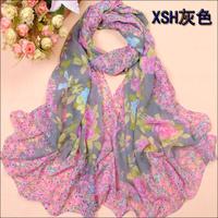 free shipping 10pcs/lot - sunsreen scarf georgette silk scarf Women - plus size beach towel sunscreen
