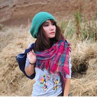 wholesale 10pcs/lot - hot-selling scarf vintage check plus size cape summer fashion rectangle air conditioning cape
