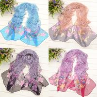 free shipping wholesale 10pcs/lot - faux silk long scarf chiffon sun cape Women silk scarf beach towel