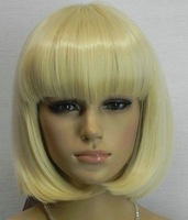 BOB style Light Blonde short Straight Women Wig  free shipping