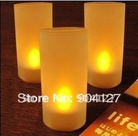 Voice Control (Yellow) Battery Operated LED Candle Light (20pcs/Pack)  SL0149