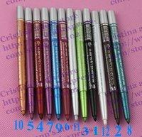 120PC/LOT EYESHADOW & EYELINER PENCIL 2 IN1 Waterproof  Eyeliner Pencil  12 color Free shipping