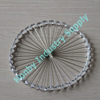 Extra-long 65mm Transparent Diamond Head Floral Pin for Securing Ribbons,Free Shipping