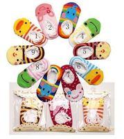 10pairs- baby Animal Cute Cartoon socks, baby short antiskid socks,baby foot wear,104#