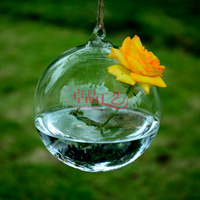 Free shipping 10cm hanging glass vase Ceiling glass vase Hanging glass tank home decoration Wedding&Christmas Ball
