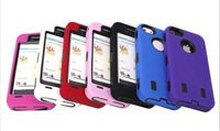 High Quality Robot Double Layer Shock Proof Hard Case Gel Cover for iPhone 5 5G 5th Free Shipping UPS DHL HKPAM CPAM