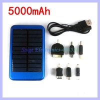 Portable 5000mah external Solar battery charger for iphone ipad Samsung HTC
