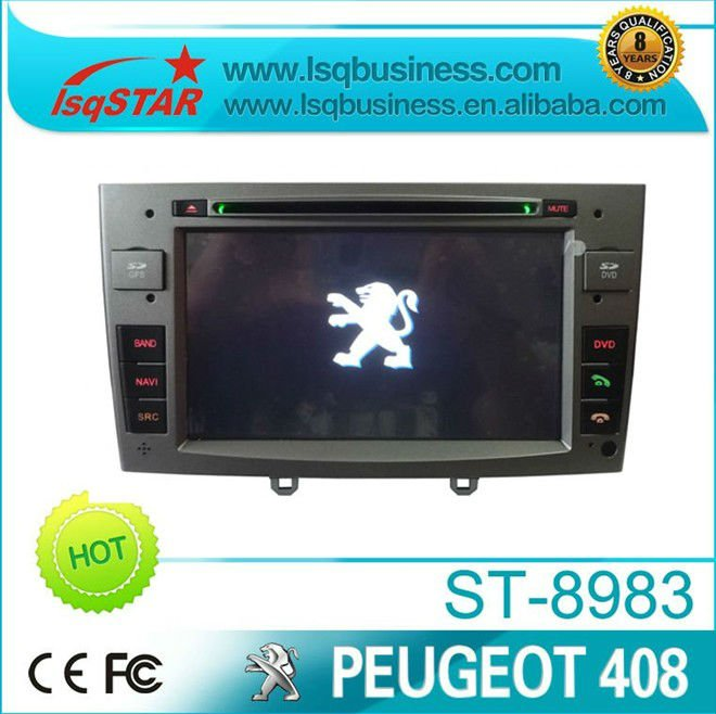 LSQ Star PEUGEOT 408 Car DVD Player with GPS Bluetooth CDC IPOD RDS(China (Mainland))