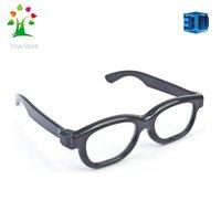 Free Shipping Passive Circular Polarized 3D Glasses for Real D Master 3D/4D/5D TV  3D TV Glasses PTA436 Black Color
