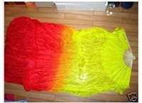 A Pair 1.5m hand made Chinese Belly dance silk fan free shipping